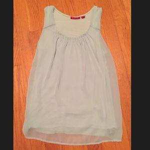 Size XS Elle dress tank chiffon overlay, mint